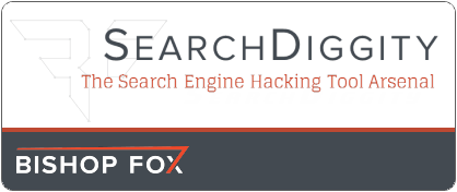 SearchDiggity by Bishop Fox. The Search Engine Hacking Tool Arsenal. Part of the Google Hacking Diggity Project.