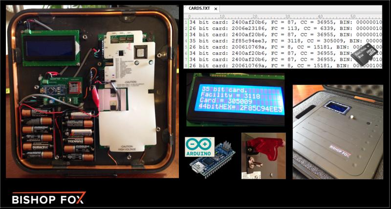 Tastic RFID Thief from Bishop Fox. Long-range RFID hacking tool.