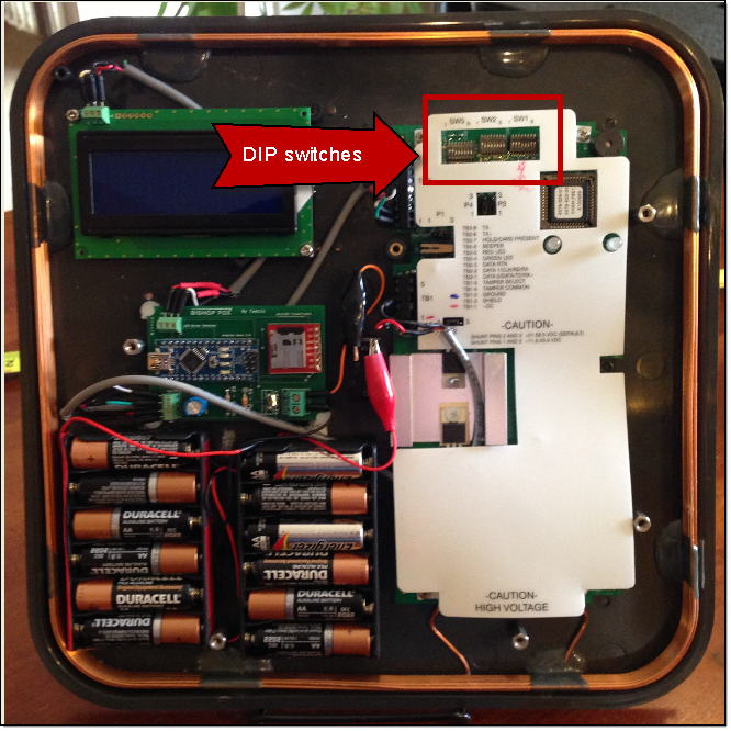 Tastic RFID Thief - Location of DIP Switches